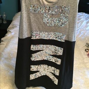 Victoria Secret Pink tank top with sequins